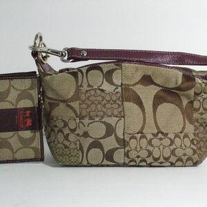 Coach handbag and side purse